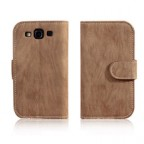 Galaxy S3 Fine Wood Grain Inspired Wallet Case