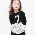 One-piece Swan Lace Dress for kids