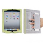 Elegant Leather Case for ipad2 with Wrist Strap and Stand