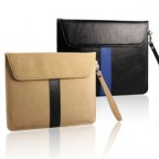 Leather Flip Envelope Case with a Wrist Strap for iPad 2