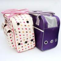 Polka Dot / Purple Pet Carrier Shoulder Bag