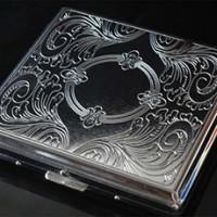 NEW Metal Cigarette Case Box Holder Holds 20 Cigarettes Silver