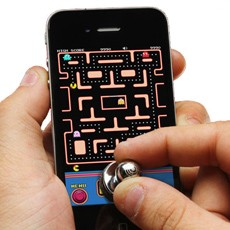 Stick-on Joystick for Smartphones (Wireless, no Bluetooth or drivers needed)
