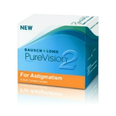 Bausch & Lomb Pure Vision 2 HD for Astigmatism- Monthly Wear - 6 Lenses