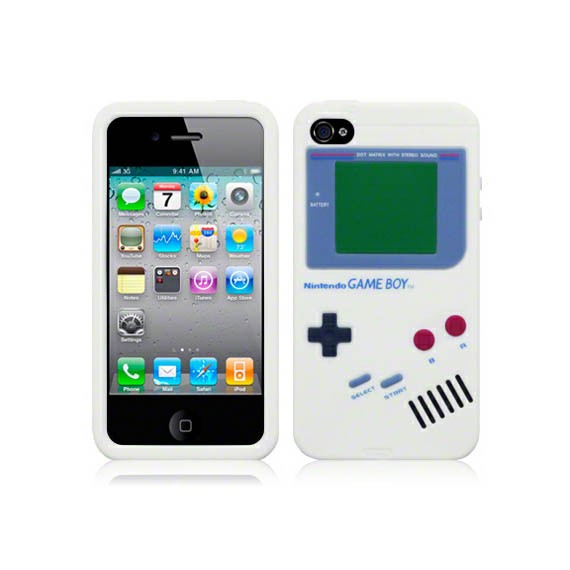 Game Boy Series Silicon Rubber Case for iPhone 4