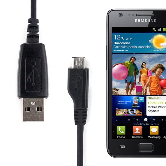 USB Charging Cable for Samsung Galaxy S2 II i9100