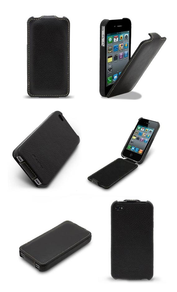 Ultra Slim Leather Flip Case for iPhone 4/4S