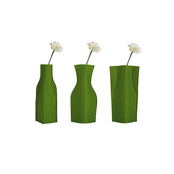 Foldable Felt Vase Covers Set