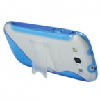 S-Line Series Transparent Case with Folding Stand for Samsung Galaxy S3 i9300