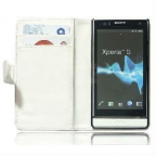 Leather Wallet Case for Sony Xperia S LT26i