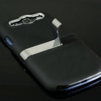 Samsung Galaxy S3 i9300 Ultra Thin Metallic Powder Coated Case with Kick Stand Holder