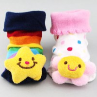 Non-slip Nature Smiley Booty Socks for Baby