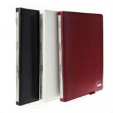The New iPad Classic Snake Textured Leather Metallic Trim Folio Case