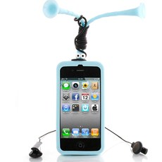 Long Antenna Grasshopper Soft Silicon Case Cover for iPhone 4/4S