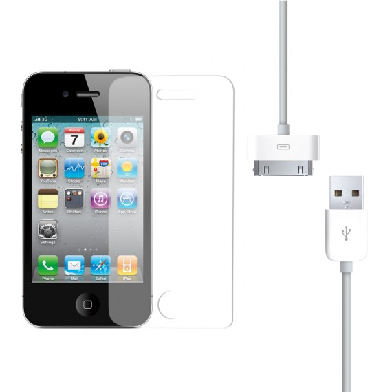 Screen Protector and Charging Cable for iPhone