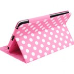 Google Nexus 7 Polka Dot Leather Case Stand