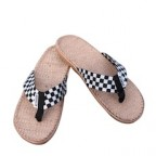 Men Checkered Hemp Flip Flop