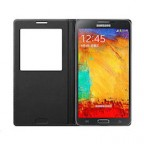 Leather Flip Smart View Battery Case Cover for Samsung Galaxy Note 3