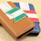 Trendy Korean Style Flip Case with Card Slots for iPhone4/4S