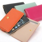 Ultra Slim Leather Wallet Case for iPhone 4/4S