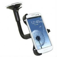 Wide Screen Suction Mount Car Holder Cradle for Samsung Galaxy S3 III i9300
