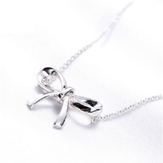 925 Silver Butterfly Bow-knot Necklace