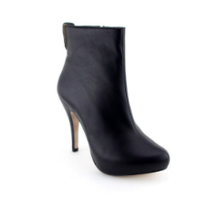 Finest Black Calf Leather Italian Platform Boots by Andrya Reis