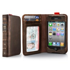 Luxury Vintage Leather Book Wallet Cover Case For iPhone 4/4S