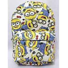 Minion Doodle High-capacity Canvas Backpack