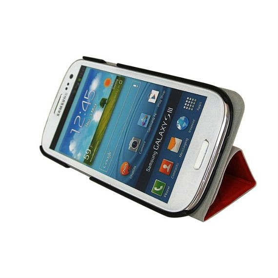 Samsung Galaxy S3 i9300 Three-Fold Leather Stand Case