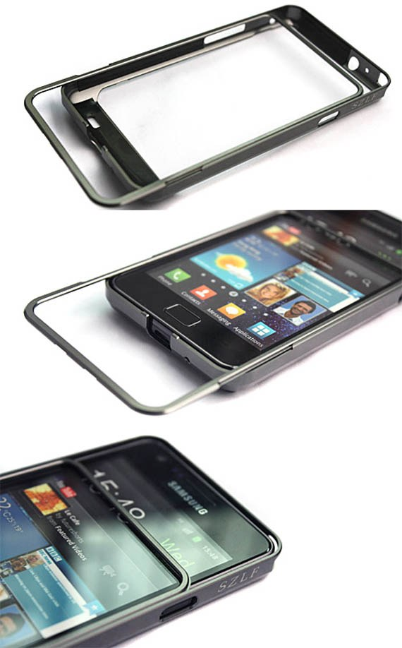 Aluminum Metal Frame Bumper Case for SAMSUNG Galaxy S2 i9100