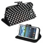 Samsung Galaxy S3 i9300 Polka Dot Man-Made Leather Flip Case