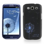 Iconic Dandelion Print Black Case for Samsung Galaxy S3 i9300