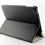 Ostrich Leather Case for The new iPad / iPad 2