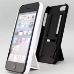iPhone 5 Matte Shell with 2-in-1 Folding Stand cum Finger Grip