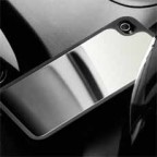 Rubberized with Chrome Surface Case for iPhone 4 / 4S