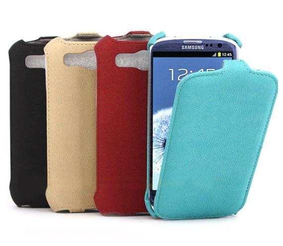 Samsung Galaxy S3 i9300 Textured Leather Flip Case
