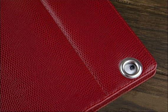 iPad 2 Classic Snake Textured Leather Metallic Trim Folio Case