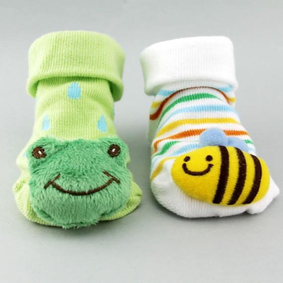 Non-slip Happy Face Booty Socks for Baby