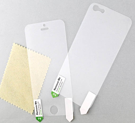 iPhone 5 Front and Back Matte Protective Films (2 Sets of 4 pcs)