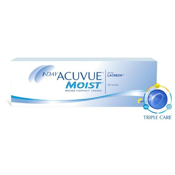12 x 30 Lenses Acuvue 1 Day Moist - Daily Wear - 30 Lenses