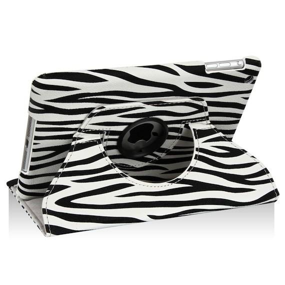 iPad Mini Zebra Design PU Leather Case