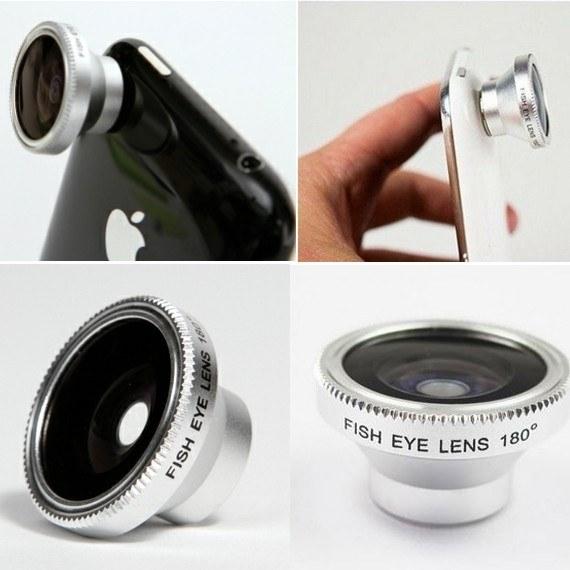 180° Detachable Fish Eye Lens for iPhone / iPad / Smartphone / Notebook