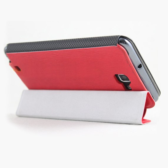 Leather 3-folds Flip Case for Samsung Galaxy Note
