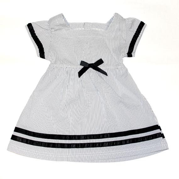 Stripe One-piece Dress with Ribbon for Toddlers