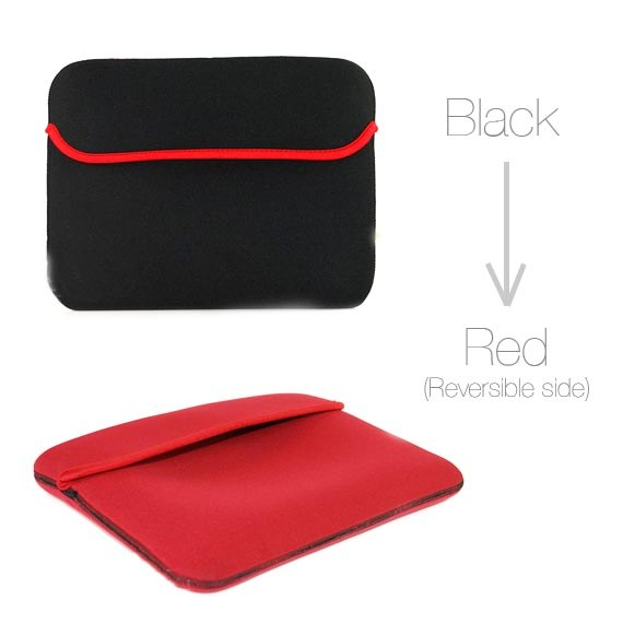 Reversible Neoprene Sleeve Bag Case For iPad, iPad 2, The new iPad