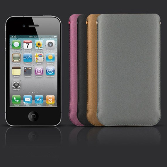 Microfibre iPhone Pouch with Card Slot