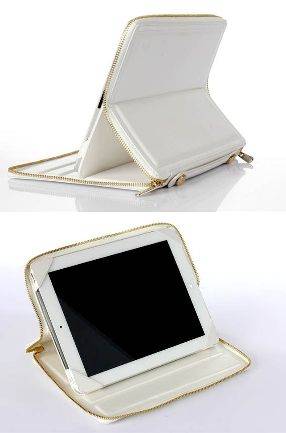 Coolest Korean-designed Man-made Leather Case With Hand Strap for iPad 2/ The new iPad
