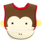 Baby Cartoon Bib with Food Catcher Pocket