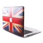GMYLE UK Flag with Apple Cutout Protective Decal Vinyl Skin Sticker for Apple MacBook